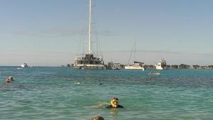 Spot the snorkelling husb