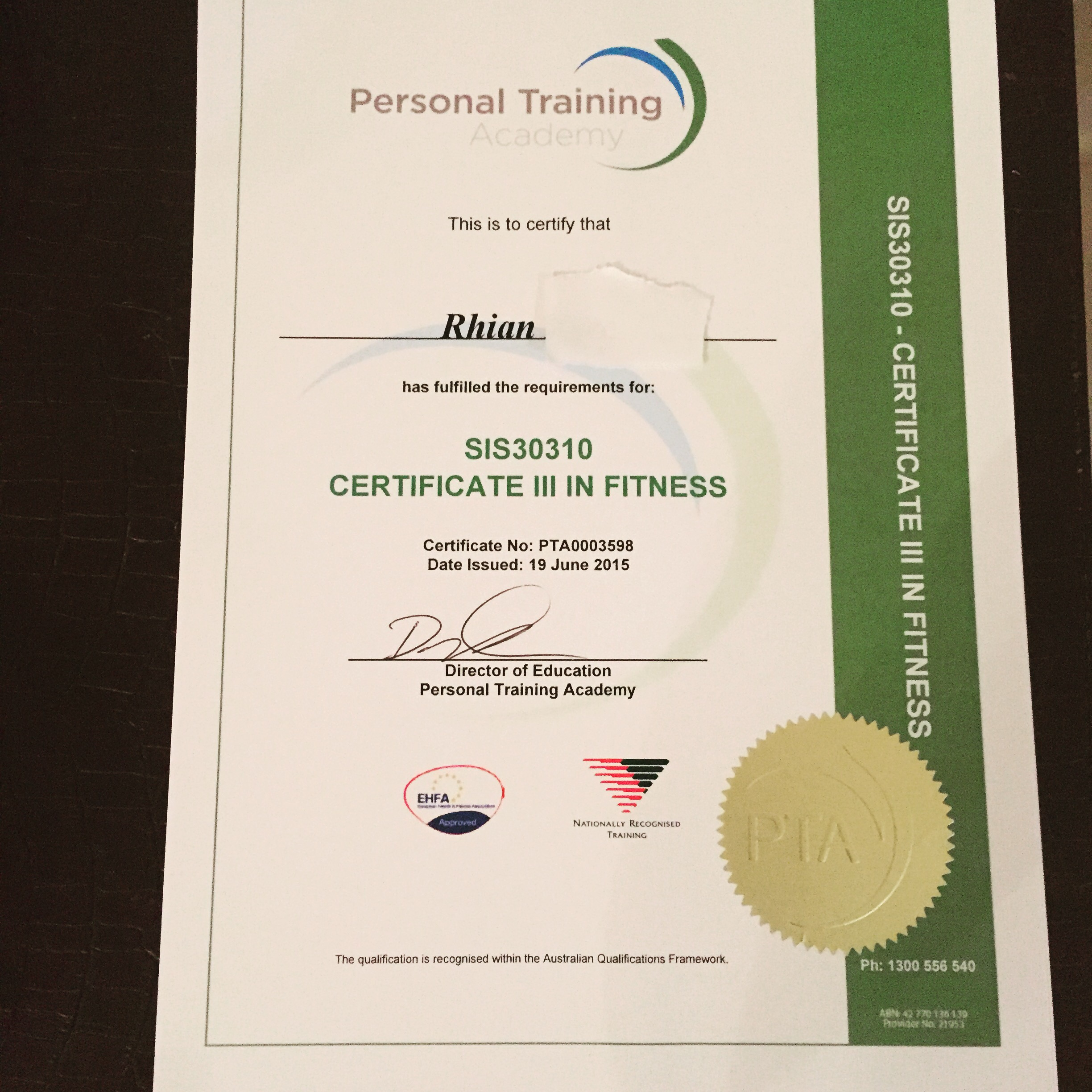 Nationally Recognized Personal Training Certification Choice Image